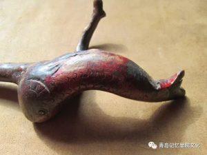 青岛记忆老竹木牙雕之文明手杖